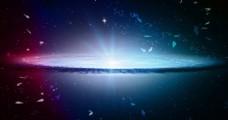 光效背景 大气 星空 蓝色