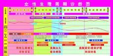 女性生理周期诊断图