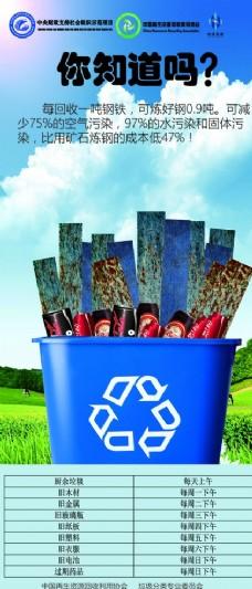 钢铁回收利用价值高
