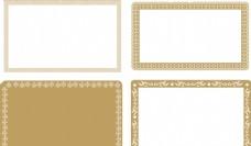 古典花纹边框 金色
