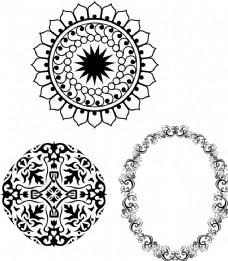 古典圆形花纹 花朵花纹