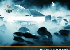 地产 广告  钢琴 唯美