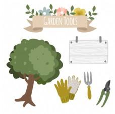 树和园林工具