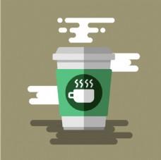 扁平化咖啡图标