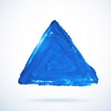 三角水彩背景