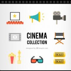 复古的电影院图标