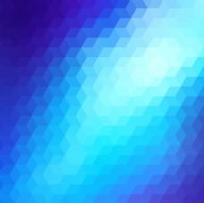 蓝色色调的抽象几何背景