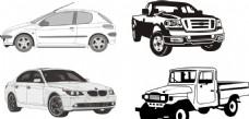 汽车剪影 汽车素描