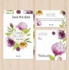 婚礼手绘卡片海报