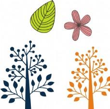 唯美树木 树叶 花朵