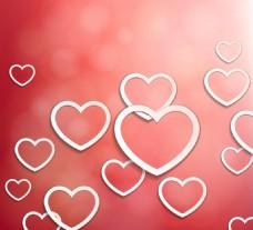 情人节心形元素矢量元素