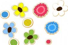 卡通花朵素材