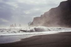 海,自然,沙滩,海洋,岩石,波浪,风很大,海边,叫嚷着,海水,盐,水