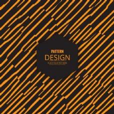 现代图案与手工绘制的黄色条纹