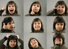 可爱女孩表情图集图片
