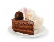 花朵奶油与蛋糕图片
