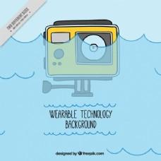 手绘防水数码相机背景