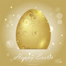 金色的复活节彩蛋背景
