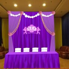 紫色签到背景