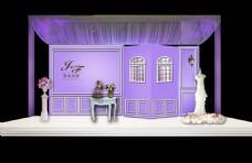 紫色浪漫欧式婚礼效果图设计图