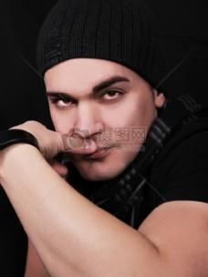 时尚,男人,眼睛,模型,年轻,脸,肖像,男孩,冒充,造型,护肤品