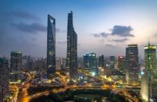 上海 小陆家嘴 暮色图片