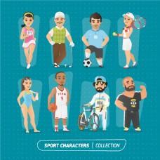 体育运动员漫画