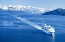 海洋背景 游艇 冷色 蓝色