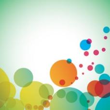 七彩泡泡背景矢量图标