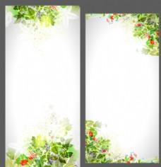 唯美花朵展板 展架