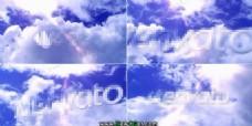 天空logo展示AE模板