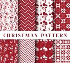 装饰圣诞红色图案