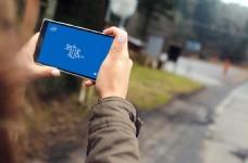 城市场景诺基亚Lumia样机