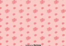 粉色系三色堇花图案