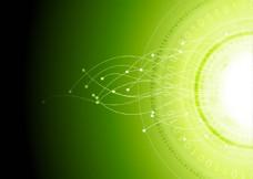 绿色炫彩动感光效背景矢量素材