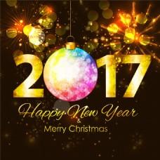 2017圣诞节海报背景图片