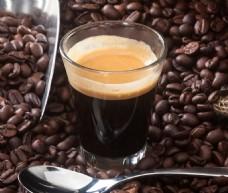 咖啡豆玻璃杯汤匙