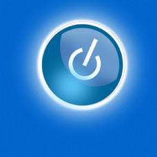 蓝色发光按钮
