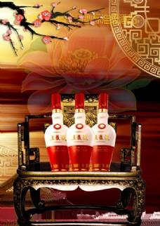 五粮液中国风酒业广告PSD素材