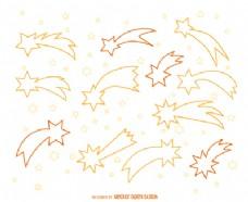 流星轮廓插图