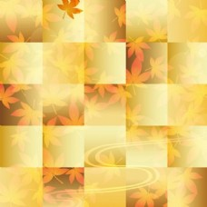 秋天美丽的叶子主题背景矢量免费