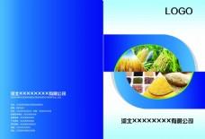 蓝色高端企业画册PSD源文件