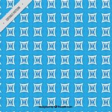 蓝色几何图案背景