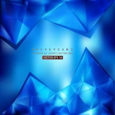 蓝色几何三角形背景设计