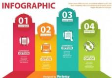 技术infography向量