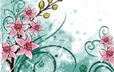百合花与垃圾花的背景