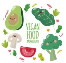 蔬菜文字背景