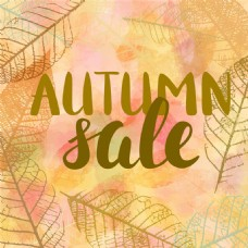 秋天透明叶子热卖标签图片