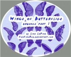漂亮的蝴蝶翅膀PS笔刷下载