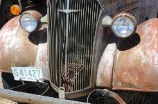 生锈的卡车车头